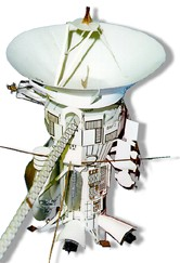 Photo of a completed Cassini Spacecraft 1/37 scale paper model
